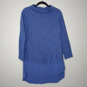 Soft Surroundings York Tiered Pullover Sweater Top